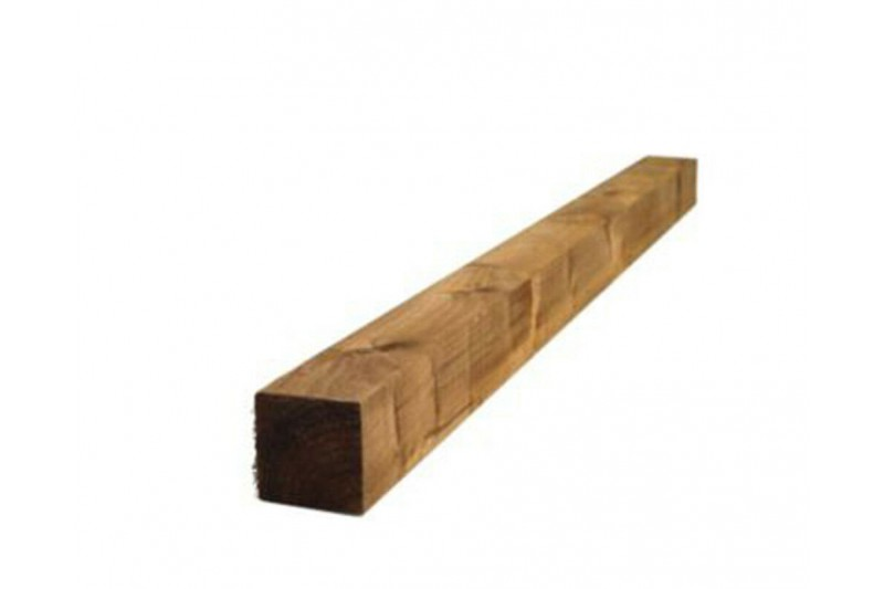 10ft (3 x 3) Tanalised Timber Post Pressure Treated